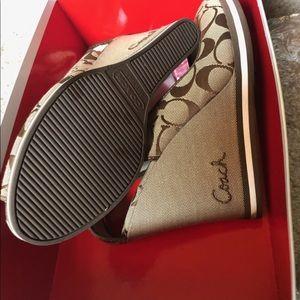 Coach Shoes - Authentic Coach Wedge Sandals!